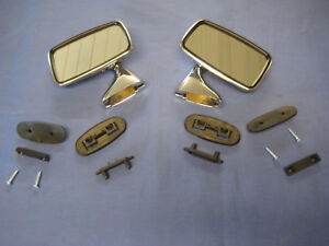 Mg Pair Tex Type Door Mirror Mgb Midget Mini Austin Morris British Leyland
