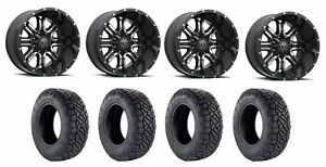 Set Of 4 Nitto 217 060 Tires Tis 535mb 2090900 Gloss Black Wheels