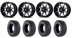Set Of 4 Nitto 217 060 Tires Moto Metal Mo97021067324n Gloss Black Wheels