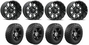 Set Of 4 Nitto 205 590 Tires Tis 535mb 2090900 Gloss Black Wheels