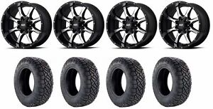 Set Of 4 Nitto 217 230 Tires Moto Metal Mo97021067324n Gloss Black Wheels