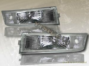 95 05 Chevrolet Astro Van Euro Clear Bumper Lights Set