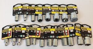 20 Pieces Stanley Standard Sae And Metric 3 8 Drive Socket Set 6 Point