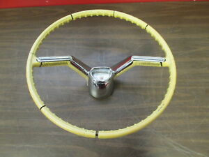 1958 Oldsmobile Steering Wheel Original Gm W Horn Button Emblem 418