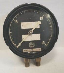 Us Gauge Ametek 15mpsi 2 1 4 Nptm Bottom 4 1 2 Dial Pressure Gauge