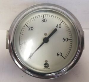 Us Gauge Ametek 60psi 3 1 2 Dial 1 4 Back Pressure Gauge 10666