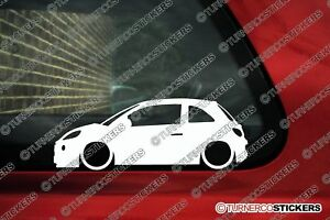 2x Lowered Car Stickers For Opel Adam