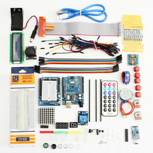 180pc Ultimate Uno R3 Starter Kit For Arduino 1602 Lcd Servo Motor Relay Rtc Led
