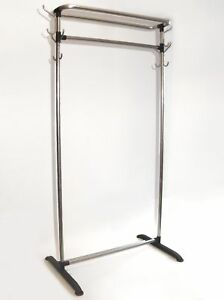 Vintage Industrial Clothing Rack Tubular Aluminum
