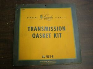 Nos Oem Ford 1949 1950 1951 Lincoln Transmission Gasket Kit Collectible Package