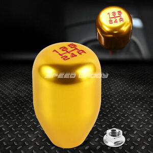 For 88 00 Honda Civic Crx Acura Integra Gold Racing Manual 5 Speed Shift Knob