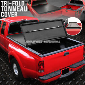 For 04 14 F150 6 5 Bed Flare Side Tri fold Adjustable Soft Truck Tonneau Cover