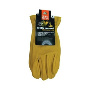 Wells Lamont Yellow Universal Large Leather Work Gloves
