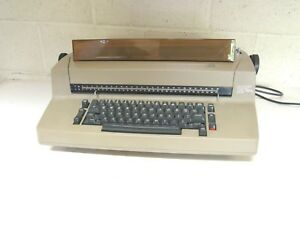 Ibm Correcting Selectric Ii Tan Electric Typewriter With Dust Cover Works Great
