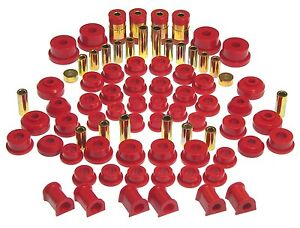 Prothane Total Suspension Bushing Kit Galant Dsm Eclipse 95 99 Fwd Awd Red