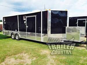 New 2018 8 5 X 24 V nose Enclosed Cargo Car Hauler Trailer Loaded Race Package 2