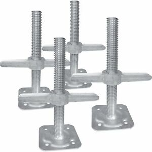 Metaltech Iibsjp12h4 Adjustable Leveling Jacks 4pk For Baker style Scaffolding