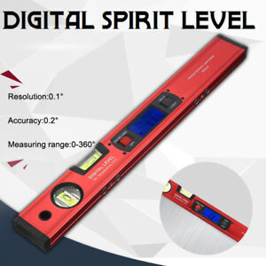 Display Angle Finder 0 360 0 1 Magnet Metre Protractor Bubble Spirit Level Kit