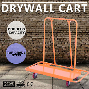 2000lbs Drywall Cart Dolly Casters Durable Construction Heavy Duty