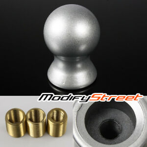 Brushed Silver Duracon Ball Shaped Shifter Lever Shift Knob M8 M10 M12 Adapter