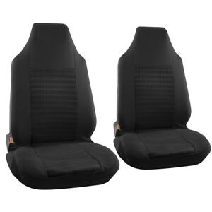 Car Seat Cover For Ford Mustang Black Bucket W Integrated Head Rests Full Stripe