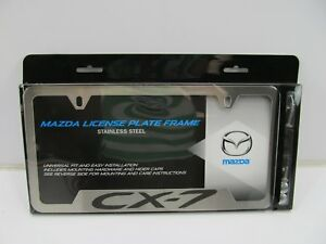 New Oem For Mazda Cx 7 Brushed Stainless Steel License Plate Frame 0000 83 M12