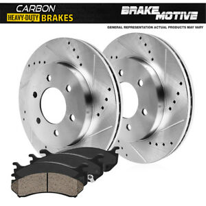 Front Brake Rotors Carbon Ceramic Pads For 2000 2001 2006 Toyota Tundra