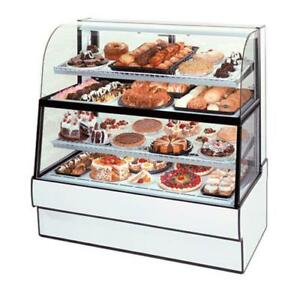 Federal Cgr3660dzh Curved Glass 36 X 60 Dual Zone Bottom top Bakery Case