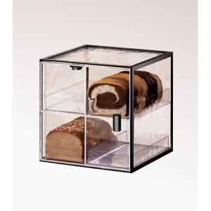 Cal mil 1720 4 4 Drawer Black Bread Box Pastry Display Case