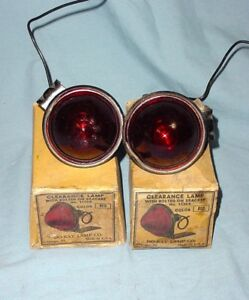 Nos Vintage Antique Do ray Stop Tail Marker Clearance Turn Signal Beehive Lights
