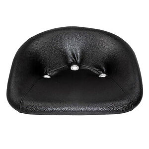 Universal Padded Pan Seat Made Of Steel Black Vinyl Leatherette 2 Bolt 3 Hole