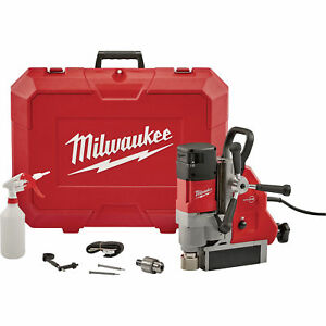Milwaukee Corded Electric Magnetic Drill Press 1 5 8 In Drill Cap 13amp 2 3hp