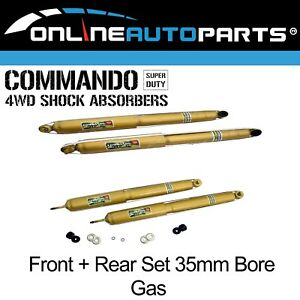4 Front Rear Gas 4wd Shock Absorbers Suits Jeep Cherokee Xj 1994 2001 4x4
