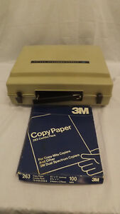 Vtg 3m 117ag Casual Portable Copier Copy Machine W 263 Combo Paper Pack