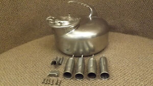 Vtg Surge Stainless Steel Milker Bucker W lid teat Cups And Hangers Ss Milk Can