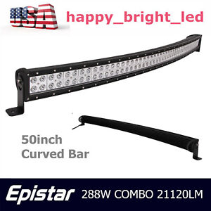 42 inch 240w Cree Led 4d Opticals Curved Light Bar Offroad Driving Combo Truck