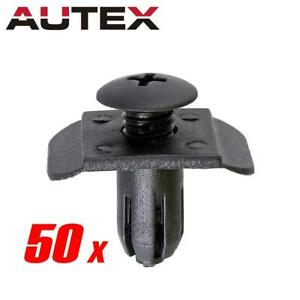 50 Front Rear Bumper Air Cleaner Cover Retainer Fastener Clip For Mazda 3 Xg300