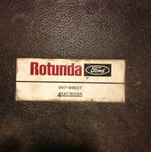 Ford Rotunda Diagnostic 4 Eat Tester 007 00037 Service Repair Special Tool