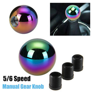 Neo Chrome Manual Round Shift Knob For Honda Mazda Nissan Toyota Ford Toyota Bmw