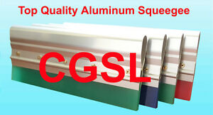 3 X 17 Silk Screen Printing Aluminum Handle Complete 65 Duro Red Squeegee Blade