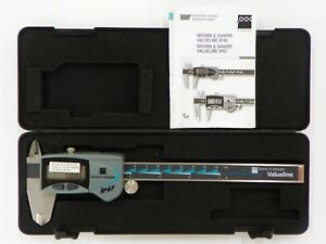 Brown Sharpe 6 Digital Caliper 00599390 Ip67 Caliper W square Depth Rod D182