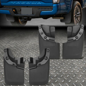 For 16 18 Toyota Tacoma Matte Balck 4pcs Front rear Wheel Mud Guard Splash Flaps