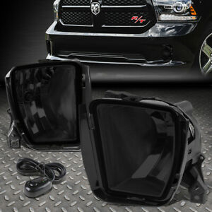For 13 18 Ram 1500 Smoke Lens Bumper Driving Fog Light Replacement Lamp W Switch