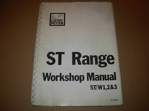 Lister Petter St Range Engine Shop Manual St w 1 2 3 Cylinder