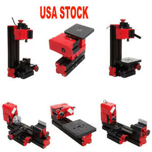 6 In1 Lathe Wood Diy Machine Tool Kit Jigsaw Milling Lathe Drilling Device