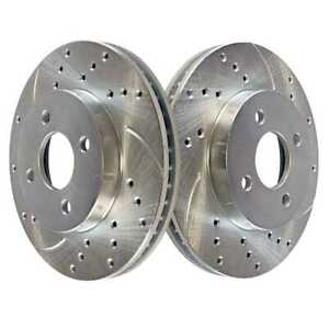 Front Drilled Slotted Brake Rotors Pair 2 Fits 05 2007 Chevrolet Cobalt 580137