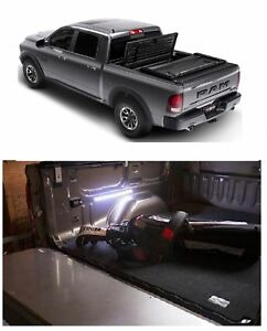 Truxedo Deuce Roll Up Folding Cover Access 18 Motion Led Light For Ram 2500