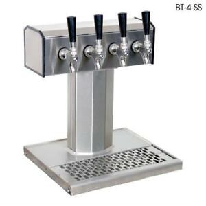 Glastender Bt 4 mfr ld 4 faucet Mirror Finish Glycol Tee Tower