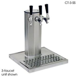 Glastender Ct 2 pbr 2 faucet Brass Glycol Column Tower W drain Pan