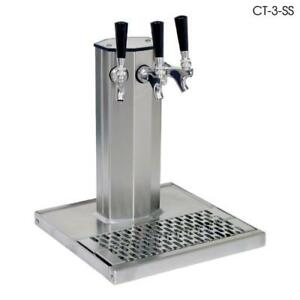 Glastender Ct 3mfr 3 faucet Mirror Finish Glycol Column Tower W drain Pan